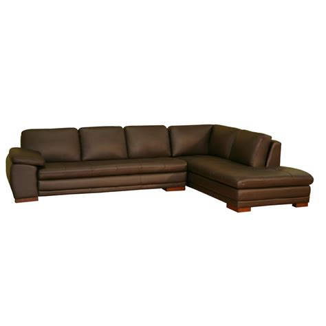 chaise u wholesale interiors leather sofa with chaise brown
