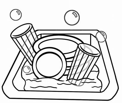 Dishes Clipart Sink Dirty Clip Clipground Help