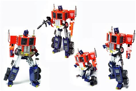 lego g1 transformers optimus prime by pax 2 technabob