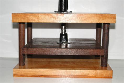 hand  solid maple  walnut wooden book press