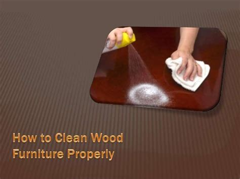 how to clean wood furniture properly
