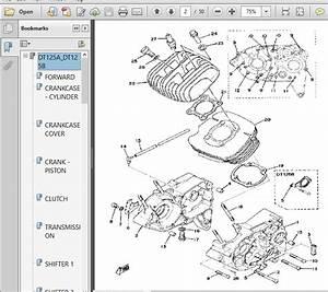 Yamaha Dt125a Dt125b Replacement Parts Manual 1974