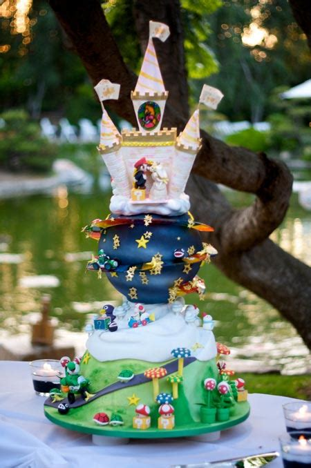 Zomg Epic Mario Themed Wedding Cake Geekologie