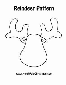 reindeer pattern templates pinterest reindeer With reindeer cut out template
