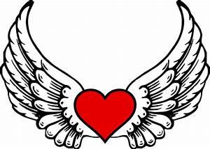 Wings N Heart Clip Art at Clker.com - vector clip art ...