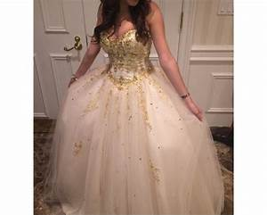 dress, white, gold, short, sweet 16, prom, girly, long ...