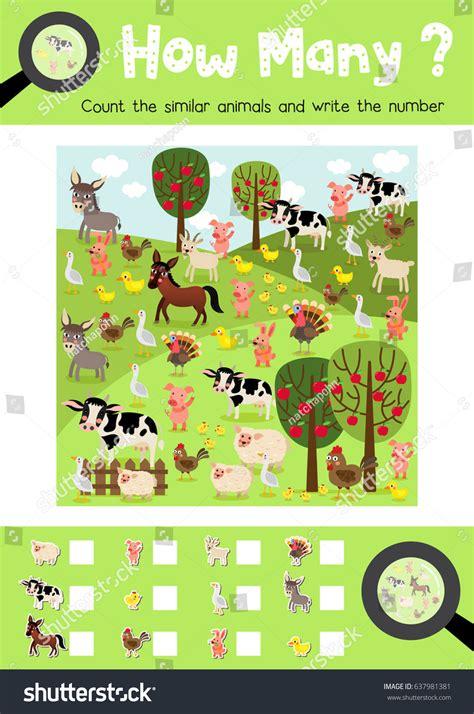 counting game farm animals preschool kids