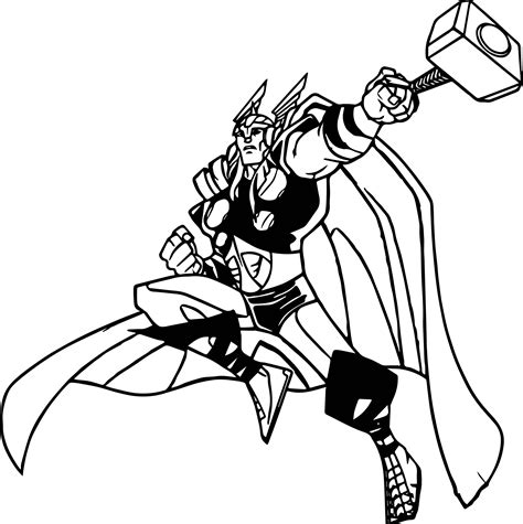 avengers cartoon coloring pages thor pictures cartoon impremedia net