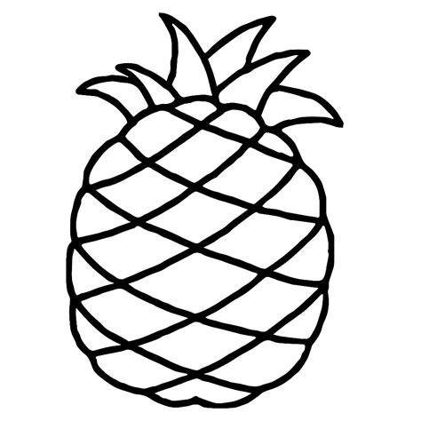 Kleurplaat Annanas leuk voor ananas
