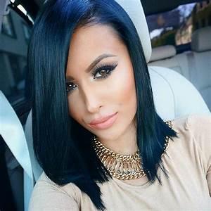 Ideas de tonos de cabello negro azulado (26) - Curso de