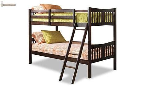 buy becky bunk bed mahogany finish   india