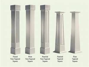 Craftsman style columns porch, craftsman style wood