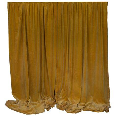 Pair Of Gold Velvet Drapes For Sale At 1stdibs