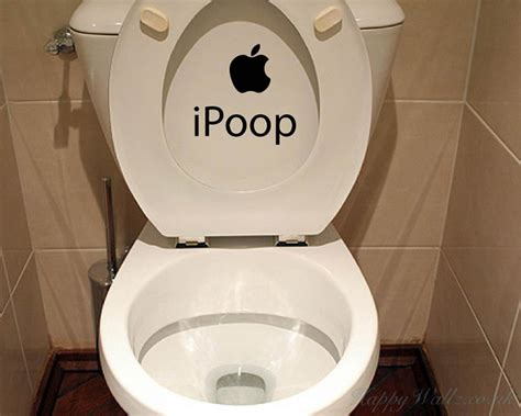 poop funny vinyl sticker bathroom toilet seat
