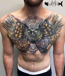 Owl Chest Tattoo | Best Tattoo Ideas Gallery