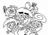 Coloring Parents Fairly Oddparents Odd Getcolorings Printable Popular sketch template
