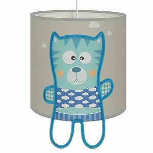 Suspension Chambre Bébé : suspension minou gris et bleu pour l 39 clairage des ~ Voncanada.com Idées de Décoration