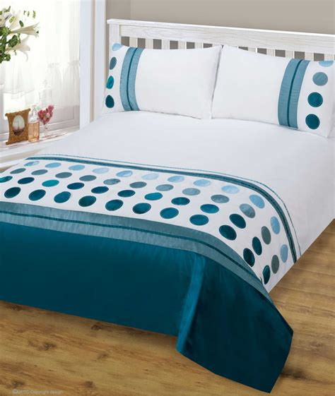 Bed Cover Sets by Teal Blue Mix Colour Stylish Modern Design Bedding Quality
