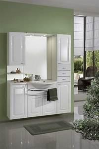 Meuble de salle de bain contemporain avec vasque et miroir for Meuble avec miroir pour salle de bain