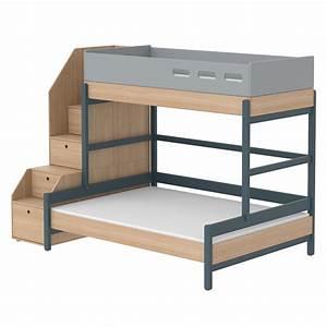 Lit Superposé Escalier : lit familial superpos escalier popsicle ch ne blueberry ~ Premium-room.com Idées de Décoration