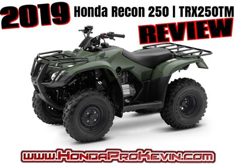 2019 Honda Recon 250 Atv Review  Specs & Features