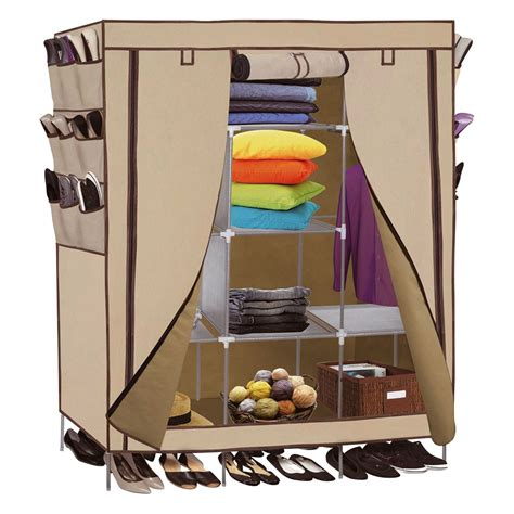 "Portable Closet Storage Organizer Clothes 69"" Wardrobe"