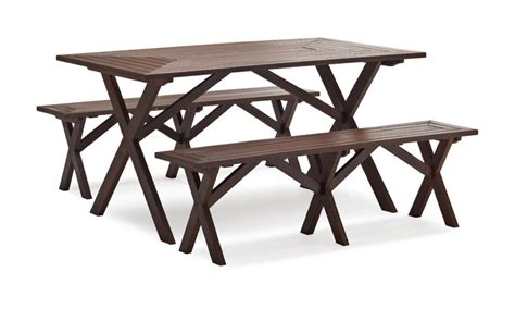Strathwood Patio Furniture Assembly by Strathwood Basics Picnic Table Bench Set Of 2 Patio
