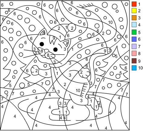 Nicole's Free Coloring Pages Winter * Color By Number