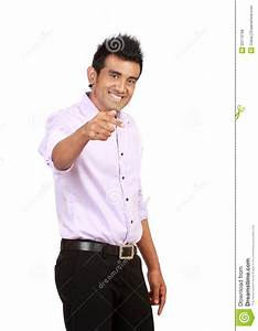 Attractive Asian Man Pointing Royalty Free Stock Photos ...