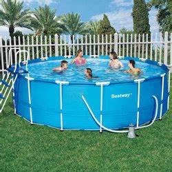 Piscine Tubulaire Oogarden : piscine steel pro frame pools bleue 4m57 x 1m22 ronde ~ Premium-room.com Idées de Décoration