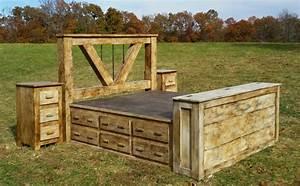 Deluxe Home Defense 5 Piece Platform Bed Set
