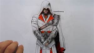 Ezio Auditore - Speed Drawing - How To Draw - Assassin's ...