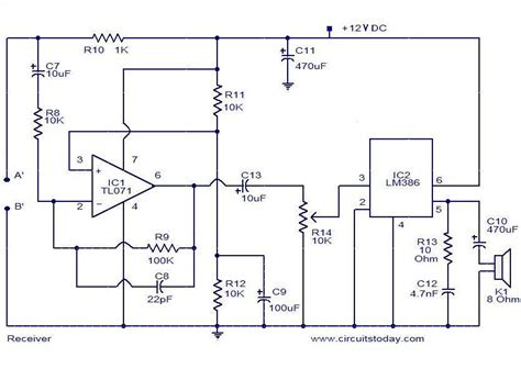 audio monitoring system electronic circuits  diagrams