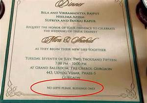 wedding invitation wording about no gifts yaseen for With wedding invitation etiquette no gifts please