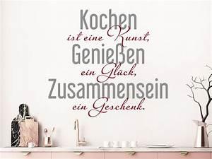 Sprüche Für Die Küche : wandtattoo kochen ist eine kunst genie en ein ~ Watch28wear.com Haus und Dekorationen