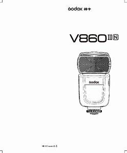 Godox V860 Ii Camera Flash Instruction Manual Pdf View