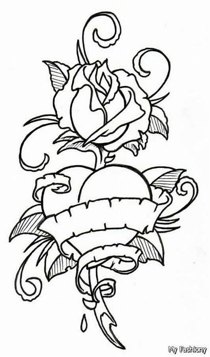Outline Drawings Tattoo Drawing Coloring Pages Rose