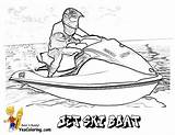 Jet Coloring Ski Boat Boats Printables Yescoloring Printable Water Ships Wodny Skuter Drawing Cool Sheets Books Halloween Rider sketch template