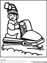 Snowmobile Coloring Pages Printable Christmas Skidoo Drawing Snowmobiles Chainsaw Diaper Baby Colouring Winter Super Sheets Transportation Template Simple Mario Drawn sketch template