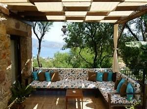 Uberdachte terrasse 50 top ideen fur terrassenuberdachung for Terrassenüberdachung stoff