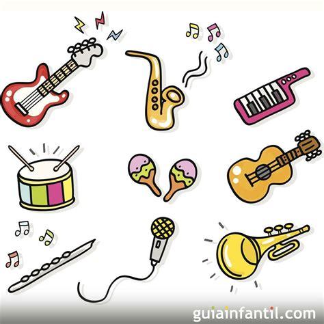 Aquí encontrarás tanto los instrumentos más demandados como guitarras, saxofones, ukeleles, pianos, o clarinetes; Dibujos para colorear de instrumentos de música
