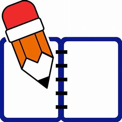 Journal Writing Clipart Clip Transparent Homework Cartoon
