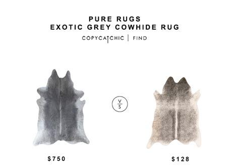 Pure Rugs Exotic Grey Cowhide Rug