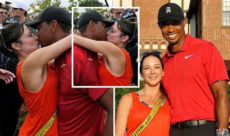 Tiger Woods girlfriend: Erica Herman kisses golf star amid ...