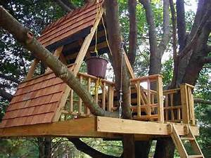 Comment Faire Une Cabane Dans Les Arbres : les plans de construction de la cabane dans les arbres forme a oncle gustave ~ Melissatoandfro.com Idées de Décoration