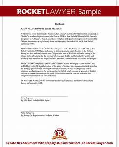 bid bond form sample template With bid bond letter sample