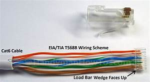 How To Wire A Cat6 Rj45 Ethernet Plug