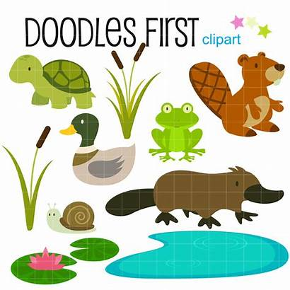 Pond Swamp Water Creatures Clip Clipart Crafts