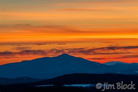sunset  vermont mountains