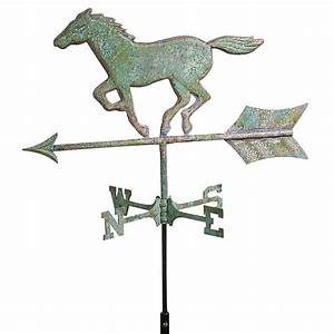 Cottage Good Directions Horse Weathervane, Weathered ...